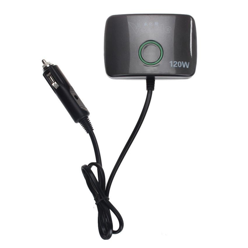 2 USB Cigarettes 3 Way Car Lighter Socket Splitter Charger Power Adapter (Black) (Intl)