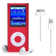 "1.8"" 8GB MP3 MP4 Slim Digital LCD Screen FM Radio Music E-book Video Player Red"