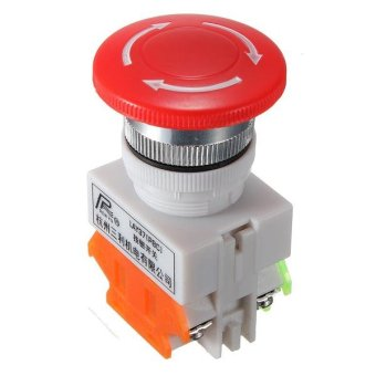 1 NC N/C Emergency Stop Switch Push Button Mushroom Push Button 4Screw Terminals - intl