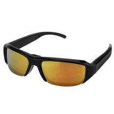 1080P HD Digital Video Spy Sun Glasses Camera HiddenEyewearDVRCamcorder DV Cam Recofder Outdoor Sports 5MP Yellow - Intl