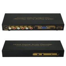 1080P HDMI TO HDMI VGA SPDIF RCA Digital Multi-channel Audio Decoders DSP (Black)