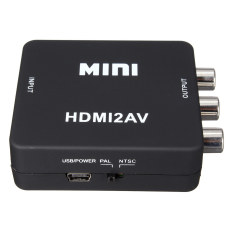 1080P Mini HDMI To RCA Audio Video AV CVBS HD TV VCR VHS DVD Adapter Converter (Intl)