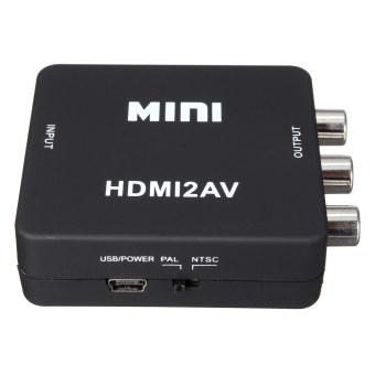 1080P Mini HDMI To RCA Audio Video AV CVBS HD TV VCR VHS DVD Adapter Converter