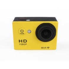 1080P WIFI 2.0 Screen Waterproof Action Camera For Sport (Yellow) - Intl