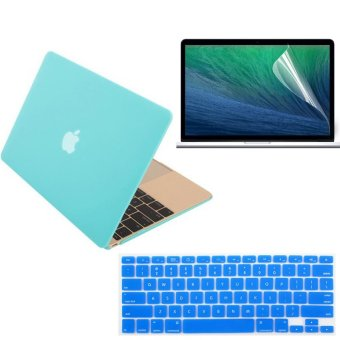 13.3 Inch For Apple Macbook Air13 Laptop Computer Blue Matte Protective Shell Laptop Protective Case And Keyboard Film And Screen Protection Film 3 In 1