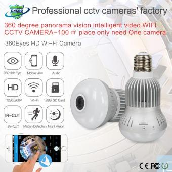 1.3MP 360 Degree WIFI Camera Wireless IP Camera Wi-Fi Bulb Lamp Fisheye Panoramic Surveillance Security Camera - intl