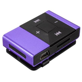 16GB Metal USB MP3 Music Media Player (Purple)