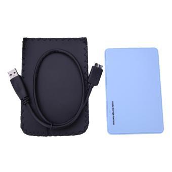 "2.5"" USB 3.0 SATA Hd Box HDD Hard Drive External Enclosure Case (Blue)"