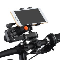 2 in 1 Multifunctional Bike Phone Mount Cell Phone Bicycle Rack Handlebar Flashlight Holder with Mini Outdoor Strong Light Lamp Handheld Flashlight Torch for iPhone 7 6S Samsung Galaxy S3 S4 S5 S6 S7 Note 3 4 5 LG HTC Smartphones - intl