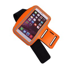 2016 High Quality Running Sport Pouch Case For IPhone 5 5.5C Arm Band Durable Waterproof Phone Bag Cases Cover (Orange)