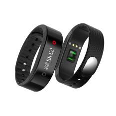 2016 kualitas terbaik SMA Band denyut jantung monitor alat pengukur langkah kalori jarak gelang pintar (Hitam)
