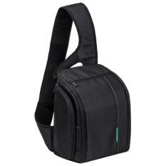 2016 New Fashion SLR Sling Bag Camera Backpack Bag To Camera Brand Photography Camera Video Bag Photo DSLR Sling Camera Bag (Black With Green) - Intl