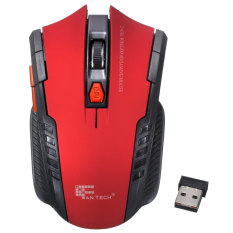 2.4 gHz mouse optik nirkabel portabel mini game untuk PC Laptop tikus Merah