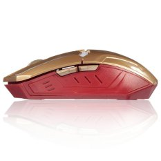 2400DPI G5 6D USB 6 Buttons Optical Wireless Gaming Mouse Luci A LED PC Gold