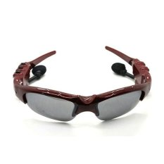 2GB UV Protection Hands-free Sunglasses Sports MP3 Player Red