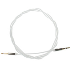 3.5mm Male To Male Glow-in-the-Dark Green Light Audio Extender Cable - 100cm (White)