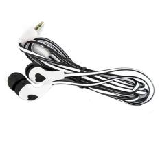 3.5mm Stereo In-ear Earbud Earphone For IPhone (White Black) (Intl)