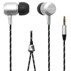 3.5mm Super Bass Stereo Headphone Earphone Headset Silver (Intl)