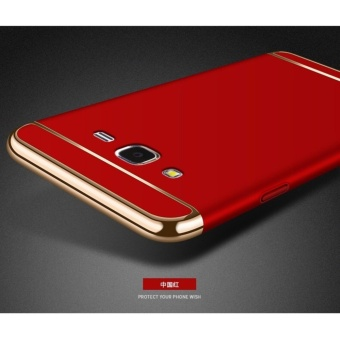 3 In 1 Fashion Ultra Thin Matte Hard Case for For Samsung Galaxy J5 2015(Red) - intl