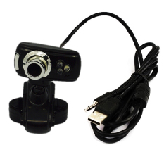 3 LED High Definition Free Driver USB Webcam Laptop PC Computer Camera Black