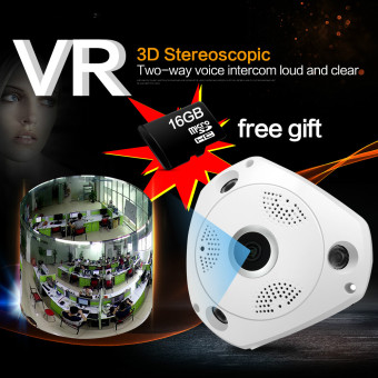 360 Degree Panorama CCTV Camera Wifi HD Wireless VR IP Camera Remote Control Security Surveillance Camera P2P Indoor Cam