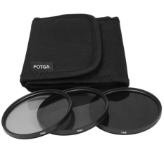 3in1 52mm Neutral Density ND2 ND4 ND8 Grey ND 2 4 8 Filter KIT With Case (Black)