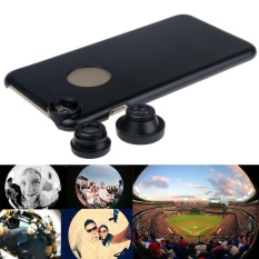 3in1 Fish Eye+Wide Angle+Macro Camera Lens +Back Case For iPhone 6 Plus - intl