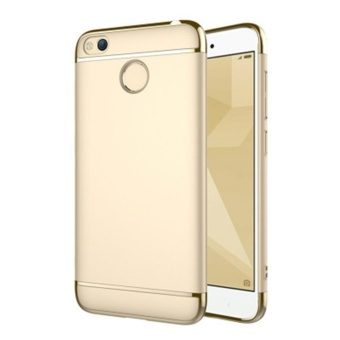 3in1 Ultra-thin Electroplated PC Back Cover Case for Xiaomi Redmi4X - intl