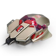 4000DPI 10D Buttons LED Optical Wired Gaming Mouse For Pro PC Gamer (Gold) - Intl