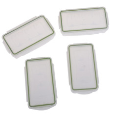4pcs White Clear Plastic Protective Storage Case Holder For 2x18650 Charger