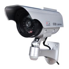 4X Solar Power Dummy Fake Outdoor CCTV Security Flash LED Light Camera