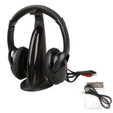 5 In 1 Wireless Headphone Earphone FM Radio HIFI For MP3/4 PC TV CD (Black)