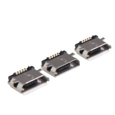 50 Pcs Micro USB 5pin B Type Female Jack Socket Connector For Phone