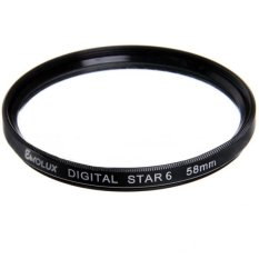 58mm Star 6 Point Filter For Canon Nikon (Intl)