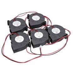 5Pcs Black Brushless DC Cooling Blower Fan 5015.5V 0.07.50x15mm - Intl