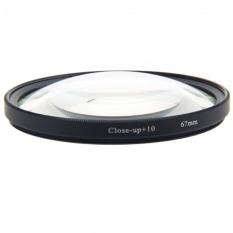 67mm + 10 Zoom Macro Close-up Digital Lens Filter Transparent & Black Border - Intl