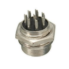 8 Pin Aviation Plug Male & Female Wire Panel Metal Connector 16mm GX16-8 (Intl)