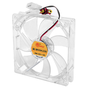 8cm Mini Quiet Clear Shell Colorful LED 4 Pin Connector Computer Desktop PC Case CPU Cooler Cooling Fan - Intl