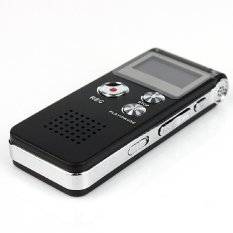 8G Usb Rechargeable Lcd Display Dictaphone Mp3 Player Audio Digital Recorder Voice Black Black