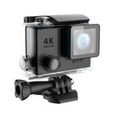 Action Camera 4K Ultra HD 1080p Waterproof Wifi 2 inch Single Screen - Hitam