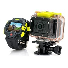 Action Camera Eyeshot Watch Remote Control Full HD1080P Ultra Wide 145 Degree Lens 16 (Black / Yellow) (Intl)