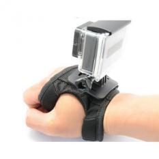 Adjustable Camera 360 Degree Rotating Sport Hand Glove Straps Mount Support For GoPro SJCAM, Xiaomi Yi (Black)