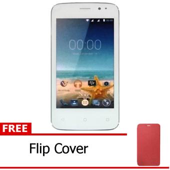 Advan Vandroid S4T - White + Free Flipcover Merah