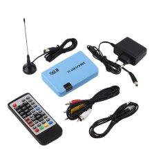 Allwin Digital DVB-T Stand-alone LCD TV Box Receiver Recorder Remote Control Radio Blue