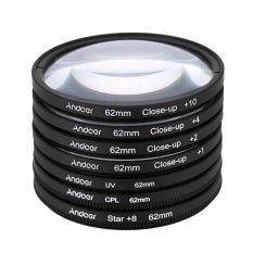 Andoer 62mm UV + CPL + Star8 + Close-up (+ 1 + 2 + 4 + 10) Photography Filter Ultraviolet Circular-Polarizing Star 8-Point Macro Close-up Lens Filter For Canon Nikon Sony DSLR Camera Lens (Intl)