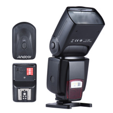 Andoer AD-560Ⅱ Universal Flash Speedlite On-camera Flash GN50 W / Adjustable LED Fill Light + Andoer Universal 16 Channels Radio Wireless Remote Speedlite Flash Trigger - Intl