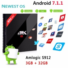 Android 7.1 Octa Core Cortex-A53 3G/32G H96 Pro + 4K Amlogic S912 64bit Smart TV BOX Support 2.4Ghz + 5.8Ghz WIFI 1000M HDMI 2.0 Ethernet Bluetooth 4.1 Media Player - intl
