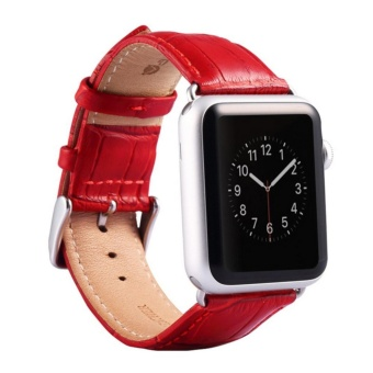 Apple Watch Band - iWatch Bands 38mm Genuine Leather Strap iPhoneSmart Watch Band Bracelet Replacement Wristband