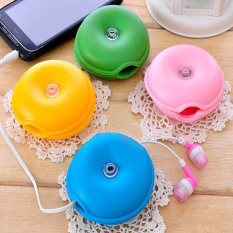 Arrival Turtle Headphone Earphone Winder Wire Box Cord Cable Organizer (Randomly Color)