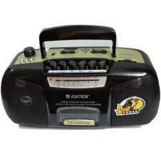 Asatron Radio Kaset Tape + USB + MP3 + MMC Portable Asatron CR-1568 - Hitam